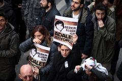 Funeral of young Gezi victim Royalty Free Stock Image