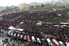 Funeral of young Gezi victim Stock Image