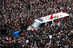 Funeral of young Gezi victim Stock Images