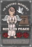 Funerale, agenzia commemorativa di cerimonia di sepoltura royalty illustrazione gratis