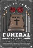 Funerale, agenzia di cerimonia di sepoltura illustrazione di stock