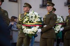 Funerale del generale di brigata Adolfas Ramanauskas-Vanagas in Viln fotografie stock libere da diritti
