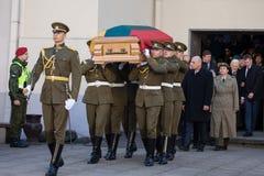 Funerale del generale di brigata Adolfas Ramanauskas-Vanagas in Viln immagini stock