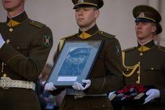 Funerale del generale di brigata Adolfas Ramanauskas-Vanagas in Viln fotografia stock libera da diritti