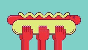Funerale del hot dog Fotografia Stock Libera da Diritti