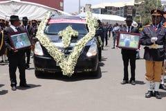 Funerale di ex presidente etiopico Dr Negasso Gidada fotografia stock