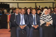 Funerale di ex presidente etiopico Dr Negasso Gidada immagine stock