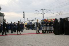 Funerale di re Michael del ` s della Romania fotografia stock