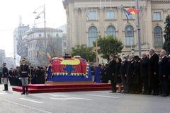 Funerale di re Michael del ` s della Romania fotografia stock libera da diritti