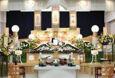 Funerale di stile giapponese immagini stock libere da diritti