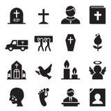 Funerale, icona di sepoltura illustrazione vettoriale