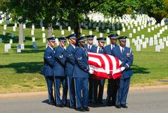 Funerale militare Fotografie Stock