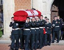 Funerale militare di un soldato del canadese WW1 immagini stock