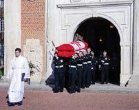 Funerale militare di un soldato del canadese WW1 Fotografia Stock