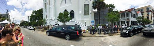 Funerale per Cynthia Hurd Immagini Stock