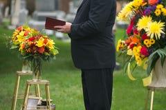 Funerale, servizio di sepoltura, morte, dolore Fotografie Stock Libere da Diritti