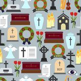 Funerals and Mournful Ceremony Patterns Stock Photos