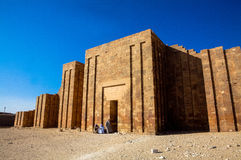 Funerary Complex of Djoser (Zoser). The funerary complex of Djoser (Zoser) is believed to have been built around the beginning of the 3rd Dynasty. It is a walled Royalty Free Stock Photography