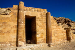 The funerary complex of Djoser (Zoser). Is believed to have been built around the beginning of the 3rd Dynasty. It is a walled compound that is constructed from Stock Image