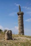 Funerary kolommen in Karakus Royalty-vrije Stock Foto's