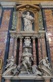 Funerary memorials  in church Gesu e Maria in Rome. Italy Stock Photos