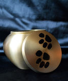Funerary pet urn. Funeral urn for pets, after the cremation Royalty Free Stock Photos
