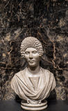 Funerary Portrait of a Woman / Ancient Aristocrat Marble Statue Royalty Free Stock Image