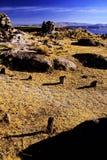 Funerary ruïnes Peru van Incan royalty-vrije stock foto's