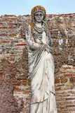 Funerary statue representing female character of ancient Ostia -. Rome Italy Royalty Free Stock Images