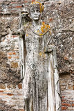 Funerary statue representing female character of ancient Ostia - Stock Photography