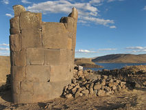 Funerary tower in Peru Royalty Free Stock Image