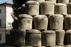 Funerary urns Stock Photo
