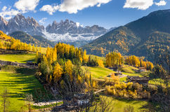 Funes Valley in the Alps Royalty Free Stock Photos