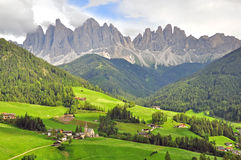 Funes valley, Italy Royalty Free Stock Photography