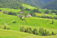 Funes valley, Italy Stock Photos