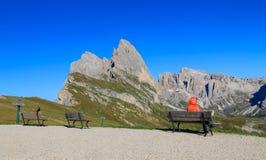 Funes valley, the wonderful Odle mountain range Stock Photos