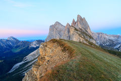 Funes valley, the wonderful Odle mountain range Royalty Free Stock Images