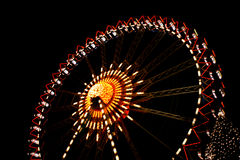 Funfair. At night with shiny lights Royalty Free Stock Images