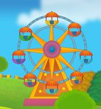 The funfair. Happy and colorful drawing for children Royalty Free Stock Photography