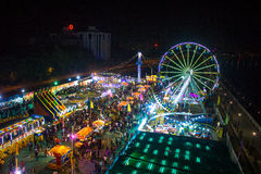 Funfair Ariel view Stock Photo