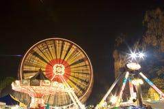 Funfair bij Nacht Stock Foto
