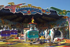 Funfair on a blue sky. Royalty Free Stock Photography
