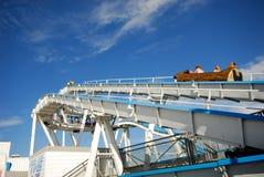 Funfair at Brighton (UK). Fun fair and blue sky at Brighton (UK Royalty Free Stock Images