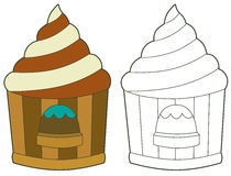 Funfair building - coloring page Stock Images