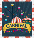 Funfair and carnival background Royalty Free Stock Image