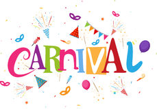 Funfair and carnival background Stock Images