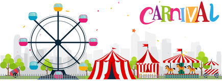 Funfair and carnival background Stock Photo
