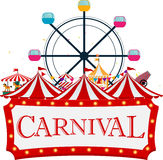 Funfair and carnival background Royalty Free Stock Photos