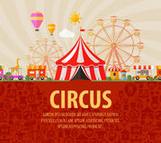 Funfair. circus performance Royalty Free Stock Images