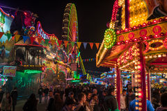 Funfair. Cologne, Germany - November 01, 2015: Funfair at night in Cologne stock image